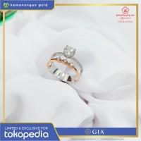 Cincin Berlian GIA Diamond Stacking ring size : 15