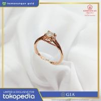 Cincin Berlian GIA Diamond Solitaire Rosegold ring size : 15 1/2