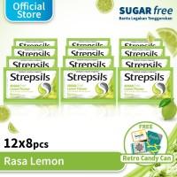 Strepsils Sugar Free 12x8 Free Kaleng Permen Strepsils