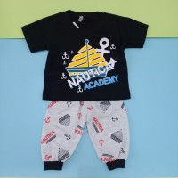 Baju Setelan Joger 7/8 Katun Anak bayi Laki-laki motif kapal