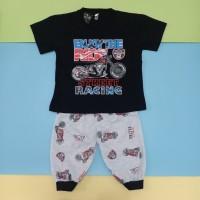 Baju Setelan Katun Anak Laki laki Celana Joger 7/8 motif MOGE