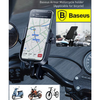 BASEUS Armor Motorcycle Phone Holder Applicable For Bicycle - Hitam