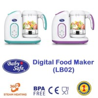 Baby Safe LB02 Digital Food Maker Blender Steam Alat Pembuat Makanan