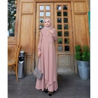 Gamis Wanita Terbaru Casual Dress Muslimah Jubah Syari Kekinian Murah