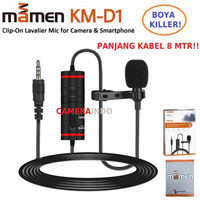 MIC MAMEN KM D1 Clip On Lavalier Mic Microphone for Camera DSLR VLOG