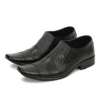 Sepatu Pantofel Pria Kulit Asli Formal Kantor Branded Lokal MF663