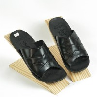 Sandal Casual Pria Sendal Kulit Asli Model Slop Kokop SDL603