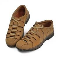 Sepatu Sendal Pria Kulit Casual Comfort and Leather Like Gladiator 301