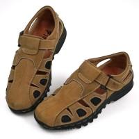 Sepatu Sendal Pria Kulit Asli Comfort and Breathable Sandal M303