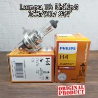 BOHLAM PHILIPS LAMPU HEADLAMP MOBIL H4 100/90W 24V ASLI (GROSIR MURAH)