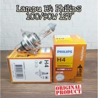 BOHLAM PHILIPS LAMPU HEADLAMP MOBIL H4 100/90 W 12V ORI (GROSIR MURAH)