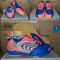 Sepatu Badminton Yonex All England 07/AE 07 Royal Blue/Neon Orange