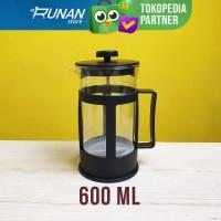 French Press 600ml Coffee Tea Plunger Maker 600 ml Alat Seduh Kopi Teh