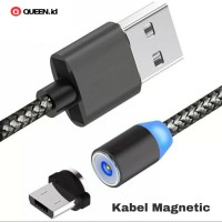 Kabel Data Charger Magnet 3A 1M Micro USB TYPE C iPhone / Magnetic
