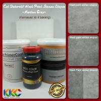 Cat Dekoratif Wash Paint Semen Expose - Medium Grey - Isi 4 Barang