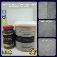 Cat Dekoratif Wash Paint Semen Expose - Medium Grey - Isi 3 Barang