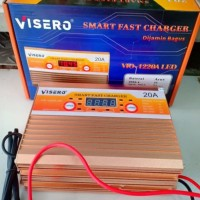 visero smart fast digital charger accu 12v 20a full otomatis