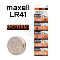 Baterai Maxell LR41 SR41 AG3 Original Kalkulator Senter Hearing Aid