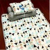 Set matras perlak bantal peang guling bayi babyland mountblank grey