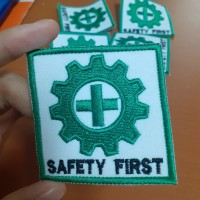 Logo Safety First / Emblem Safety K3 Baju Kerja Proyek