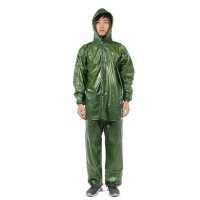 JAS HUJAN SETELAN TOP WATERPROOF Safety Raincoat Security Jubah - Biru