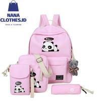 Tas Anak Lucu 4 in 1 Panda (Sekolah / Main) (Laki Laki / Perempuan)
