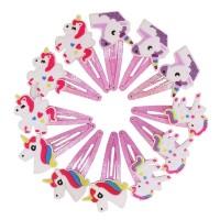 1 pasang jepit rambut unicorn bayi anak perempuan