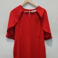 *Preloved* Cape Dress odiva Merah Pesta