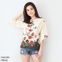 CHICORY TOP - Atasan Batik Blouse Batik Modern Wanita Cheongsam Premiu