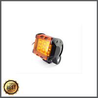 Super Murah - Mika Kuning Lampu Tembak Sorot LED Cree 18W 6 Mata LED