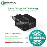 Travel Fast Charger QC 3.0 CHOETECH 18W IPHONE SAMSUNG OPPO
