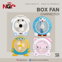 Kipas Angin Karakter Listrik NAGOYA Portable Desk Fan 10in NG-180BCD - Kuning