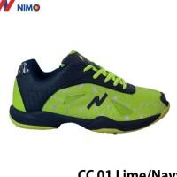 NIMO Sepatu Badminton Court Champ 01 Lime Navy ukuran 38 sampai 45