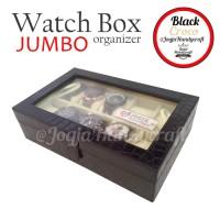 akaz organizer Black Croco Watch Box / Kotak Tempat Jam Tangan Isi 10