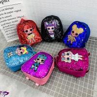 【Promo】Tas Ransel Anak Fashion Ransel Glitter Kartun Payet