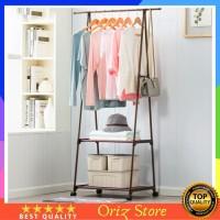 Gantungan Baju Rak Buku Pakaian Serbaguna Triangle Stand Hanger dengan