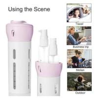Y42 4in1 4 in 1 Travel Dispenser Bottle Botol Toiletries Kit Sabun ORI