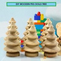 ♡10pcs DIY Wooden Peg Dolls Tree Wedding Cake Decoration Kids