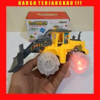 Mainan Buldozer Bump Go Baterai - Truk Traktor Batre Anak Edukatif