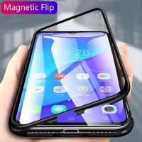 Case Casing SAMSUNG GALAXY A20 A205 LUXURY MAGNETIC CASE TEMPERED GL