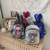 【Promo】Tas Ransel Anak LOL Fashion Ransel Glitter Kartun Payet