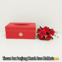 TEMPAT BOX COVER KOTAK TISU TISSUE MOBIL WC CROWN MAHKOTA KULIT MERAH