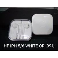 Headset Earphone Iphone 5 6 Original 99 % Warna Putih