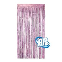 backdrop foil pink muda / tirai foil / foil fringe curtai rumbai