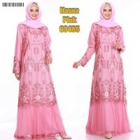 Maxi Dress Hasna Gamis Pesta Brukat Tile Gamis Lebaran Gamis Terbaru