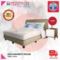 Kasur Springbed Alga Gold Magnetic 200 x 200 Spring bed Full Set