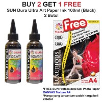 Promo SUN ART PAPER INK 100 ml - Tinta DURA ULTRA BLACK