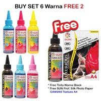 Promo SUN Tinta Art Paper Epson DURA ULTRA INK 100 ml (1 Set 6 Warna)