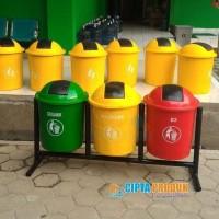 Tempat sampah fiber pilah organik nonorganik B3