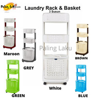 Rovega Laundry Rack & Basket 3 Susun/ keranjang Baju kotor (GOJEK)